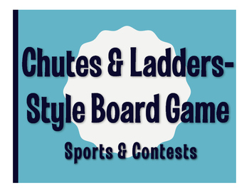 Spanish Sports and Contests Chutes and Ladders-Style Game