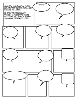 Spanish Sports and Contests Comic Strip