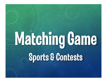 Spanish Sports and Contests Matching Game