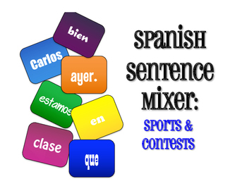 Spanish Sports and Contests Sentence Mixer