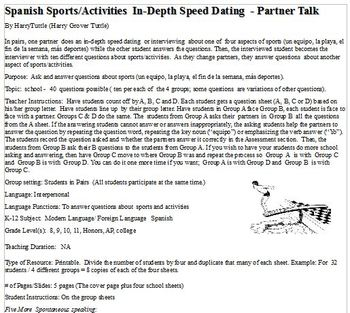 Spanish Sports/Activities In-depth Speed Datings (Pairs)