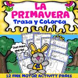 Spring Spanish Activities: Fine Motor Skills - Handwriting Worksheets - Tracing