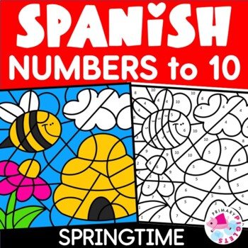 Spanish Spring Color by Number Set