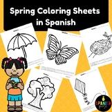 Spanish Spring Coloring Sheets (Primavera hojas de colorear)