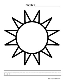 Spanish Spring Coloring Sheets (Primavera hojas de colorear)