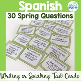 Spanish Task Cards Spring Conversation Questions