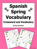 Spanish Spring Crossword Puzzle Worksheet and Vocabulary - Primavera