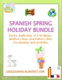 Spanish Spring Holiday  Bundle! March-June Holiday Vocabulary and Activities