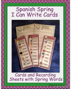 Spanish Spring I Can Write Cards