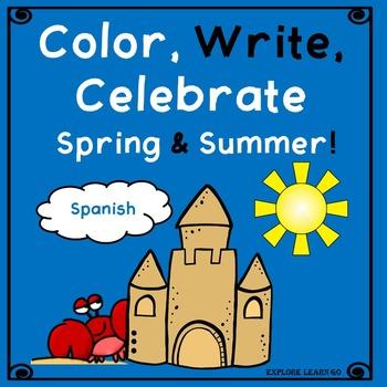 Spanish Spring & Summer Color, Write, Celebrate! Freebie