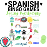 Spanish Spring Break Activity - Spanish Vocabulary Bingo Game
