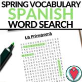 Spanish Spring Vocabulary Word Search - La Primavera