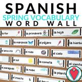 Spanish Spring Vocabulary Word Wall