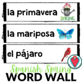 Spanish Spring Vocabulary - Spanish Word Wall