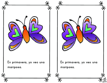 Spanish Emergent Reader: Spring Words