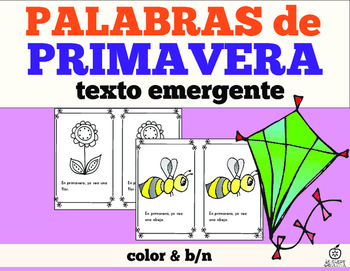 Spanish Emergent Reader: Spring Words