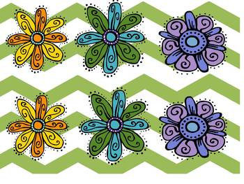 Spanish Spring and Summer Flowers: sorting,counting & graphing