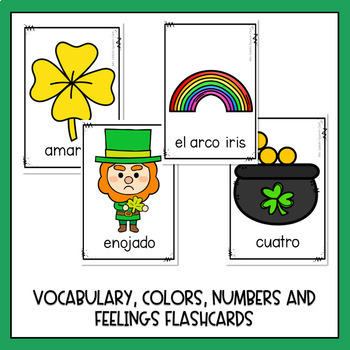 Dia de San Patricio Booklets and Worksheets (St. Patrick's day in Spanish)