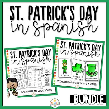 St Patrick's Day in Spanish Activity Pack Bundle - Dia de San Patricio