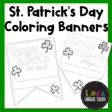 Spanish St. Patrick's Day Coloring Banners
