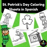Spanish St. Patrick's Day Coloring Sheets (San Patricio hojas de colorear)