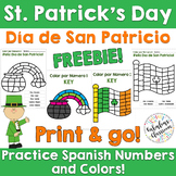 Spanish St. Patrick's Day FREEBIE | No Prep Color by Numbe