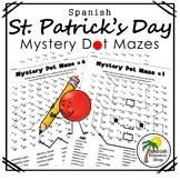 Spanish St. Patrick's Day Mystery Dot Mazes