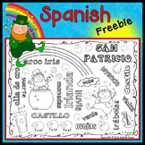 Spanish St. Patrick's Day WORD ART FREEBIE