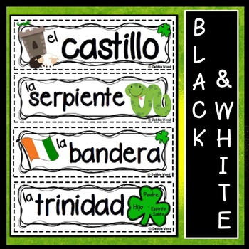Spanish Word Wall St. Patrick's Day (El Día de San Patricio)