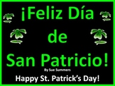 Spanish St. Patrick's Day Bilingual PowerPoint and Bulletin Board Signs