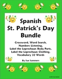Spanish St. Patrick's Day Bundle - Puzzles, Practice, Listening, and Vocabulary