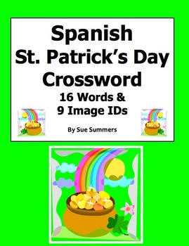 Spanish St. Patrick's Day Crossword Puzzle and Vocabulary IDs