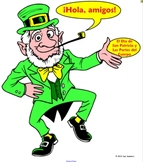 Spanish St. Patrick's Day Label the Leprechaun Body Parts-NOTEBOOK