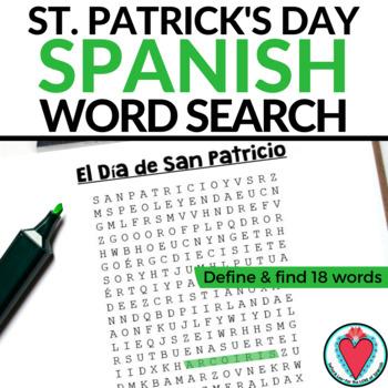 Spanish St. Patrick's Day Word Search / El Dia de San Patricio