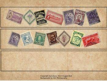 Spanish Stamp Border