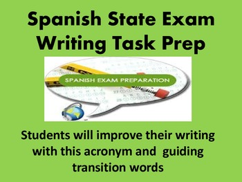 Spanish State Exam Writing Prep