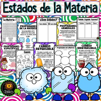 Spanish: States of Matter (Estados de la Materia)