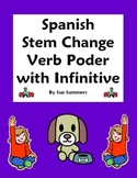 Spanish Stem Change Verb Poder 10 Translations Worksheet