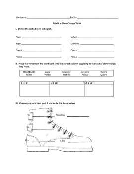 WORKSHEETS NOTES SPANISH IN