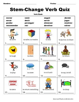 Spanish Stem Change Verbs BUNDLE VALUE PACK
