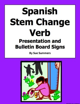 Spanish Stem Change Verbs PowerPoint  - 37 Different Infinitives