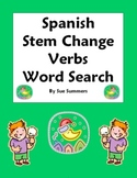 Spanish Stem Change Verbs Word Search, Vocabulary, and Image IDs