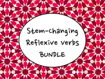 Spanish Stem-Changing Reflexive Verbs BUNDLE- Slideshow, Worksheets Pack