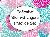 Spanish Stem-Changing Reflexive Verbs Worksheets Practice Set