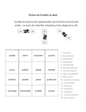Spanish Stem-Changing Verb Activities - Magic Squares