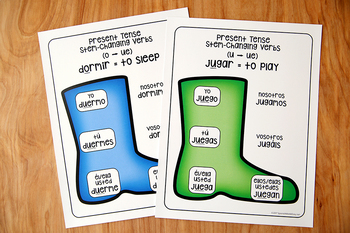 Spanish Stem Changing Verbs Activities and Posters