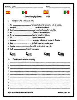Spanish Stem-Changing Verbs E>IE