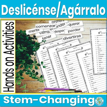 Spanish Stem Changing Verbs Games Deslicense Agarralo and More