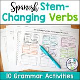 Spanish Stem Changing Verbs Grammar Activities