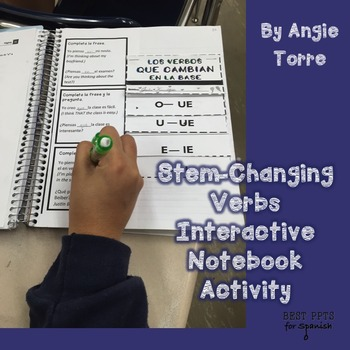 Spanish Interactive Notebook Activities for Stem-Changing Verbs